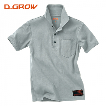 リブニット半袖ポロシャツ