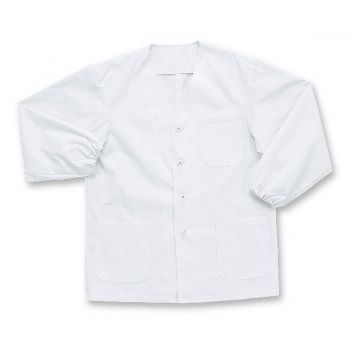 [シンメン]飲食 長袖 調理白衣(男性用