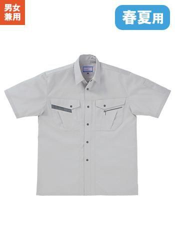 [クロダルマ]作業服 半袖シャツ 制電