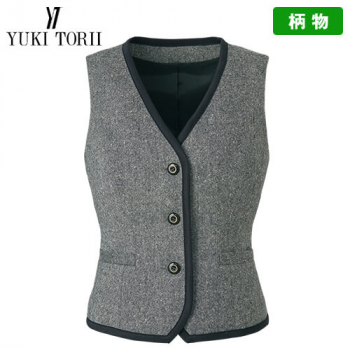 YT2910 ユキトリイ [秋冬用]ベスト ツイード