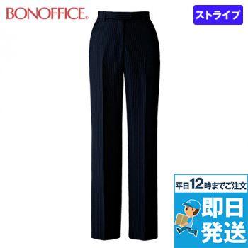 BONMAX AP6247 [通年]裾上げらくらくパンツ[プレイニーストライプ/抗菌防臭]