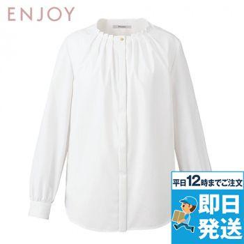 EWB803 enjoy タックブラウス(長袖)
