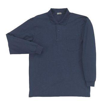 [シンメン]T/C長袖鹿の子ポロシャツ