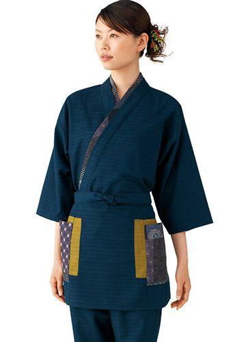 藍の着用例