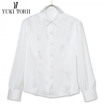YT1588 ユキトリイ [秋冬用]長袖サテンブラウス