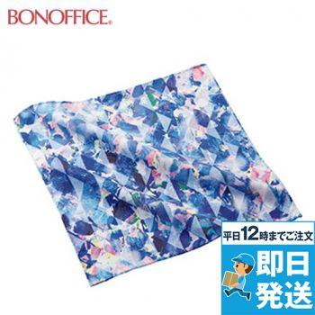 BONMAX BA9138 アレンジしやすい華やかなこもれび柄ミニスカーフ