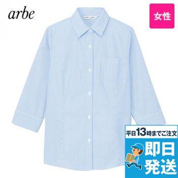 BL-8370 チトセ(アルベ) ブラウス/七分袖 先染ストライプ(女性用)