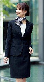 en joie(アンジョア) 51760 繊細なストライプで美人度アップのスカート(53cm丈) 93-51760
