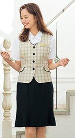 56302 en joie(アンジョア) 夏に適した清涼感ある素材のマーメイドスカート 無地 93-56302