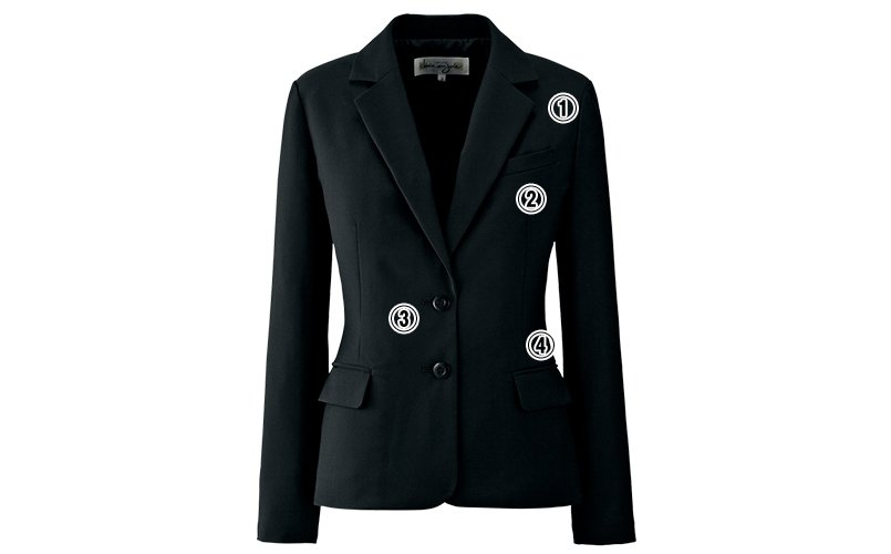 アンジョア81550ジャケットのこだわりポイント