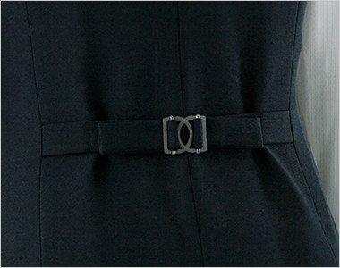 ウエストのサイズ調節が可能な後ろ背ベルト