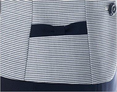 リボン風デザインの両脇ポケット