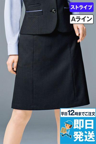 BONMAX AS2286 [通年]オピニオン Aラインスカート ストライプ