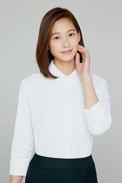 AR1566 アルファピア [通年]七分袖ニットシャツ