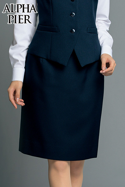 UF3500R アルファピア [秋冬用]シンプルタイトスカート(レギュラーウエスト) 無地