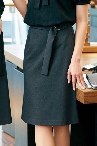 [在庫限り/返品交換不可]YT3308 ユキトリイ [通年]Aラインスカート 無地(ベルト付)
