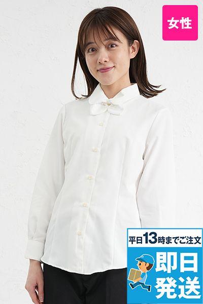 BL-6814 チトセ(アルベ) [通年]プチプライスでお得!リボン付きブラウス/長袖(女性用)