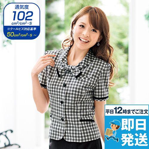 en joie(アンジョア) 26230 [春夏用]可愛さと軽快さを兼ね備えたチェック柄の人気オーバーブラウス