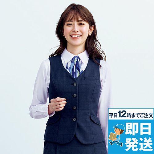 EAV758 enjoy [通年]ベスト[ストレッチ/チェック]