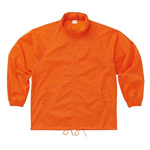 フードインウィンドブレーカー オレンジ