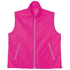 蛍光帯付きベスト ピンク