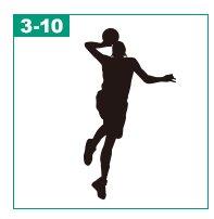 バスケットボールのシルエット