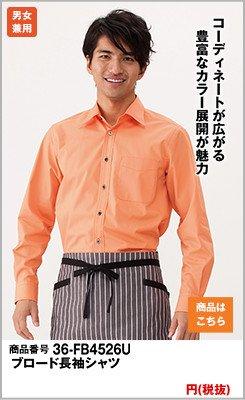 レギュラーカラーの長袖タイプ