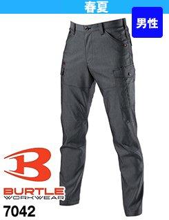 半永久的なストレッチ性と優れた通気性の作業ズボン・バートル7042