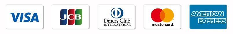 VISA、JCB、DinersClub、mastercard、AMERICAN EXPRESS