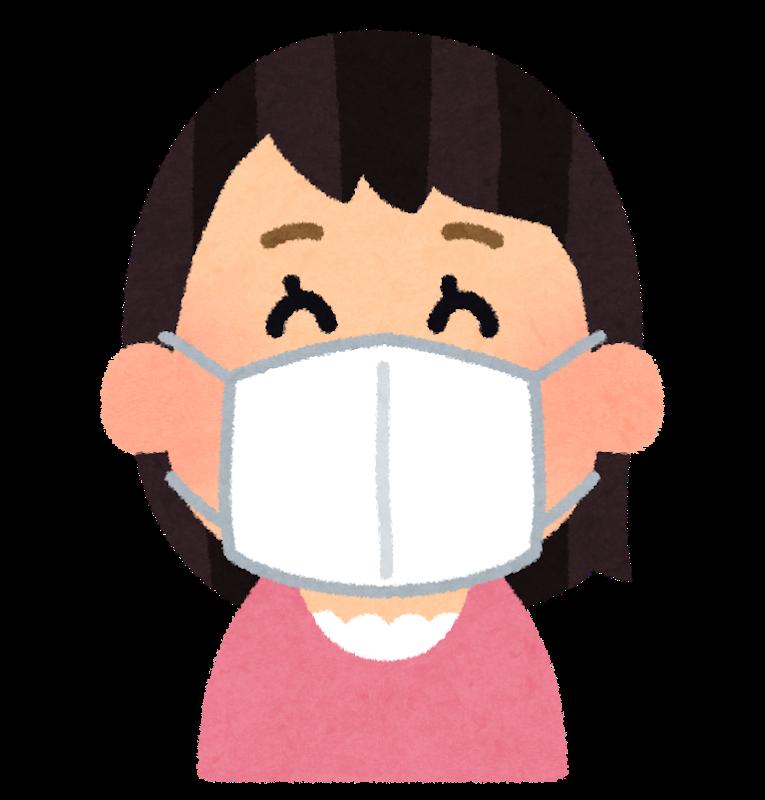 マスクをつけた女性のイメージ