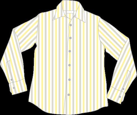 ストライプ柄のシャツ