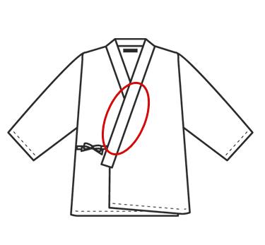 作務衣、甚平の前えりに刺繍の料金