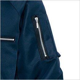 左袖 ファスナーポケット