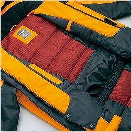 光電子綿+3層メッシュ+パウダーガード仕様で、最強の防寒性能