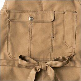 収納力のあるフラップポケット
