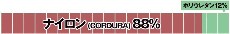 ナイロン(CORDURA)88%・ポリウレタン12%