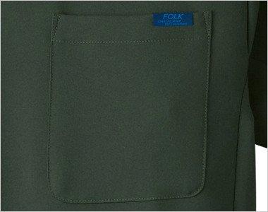 左胸 FOLKピスネーム付きポケット