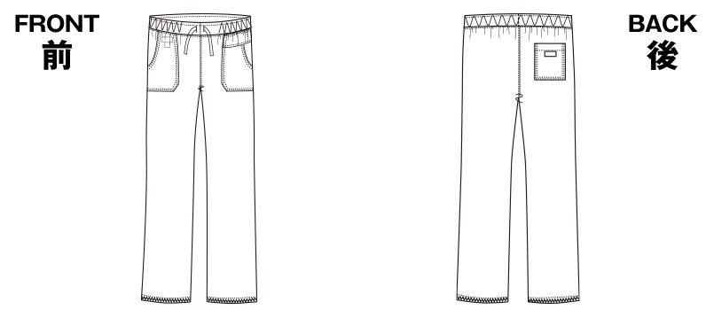 5019SC FOLK(フォーク)×Dickies ストレートパンツ(男女兼用)のハンガーイラスト・線画