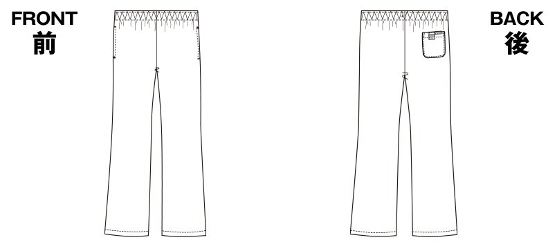 6005SC FOLK(フォーク) パントン レディースブーツカットパンツ 総ゴムのハンガーイラスト・線画