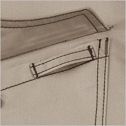 左胸ポケット ループ付き
