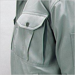 配色胸ポケット