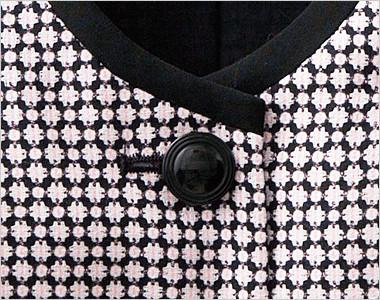光沢のあるリングデザインの黒ボタン