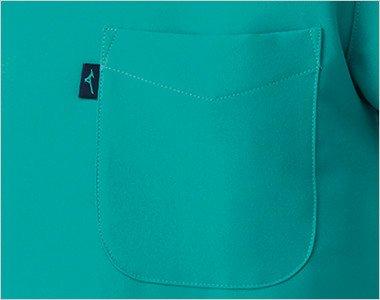 MIZUNOとランバードのロゴ入りの左胸ポケット