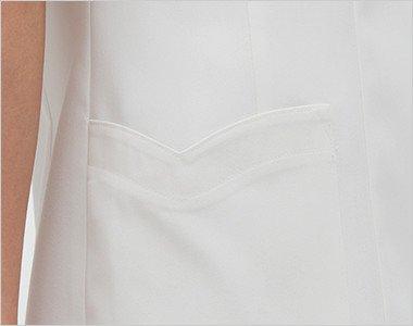 ハート型のかわいい脇ポケット