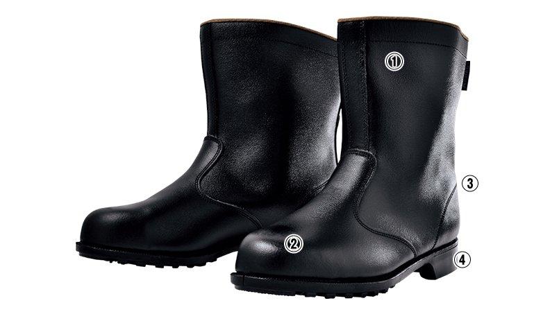 ジーベック 85028安全半長靴 スチール先芯のこだわりポイント
