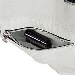 左胸ポケットは二重構造