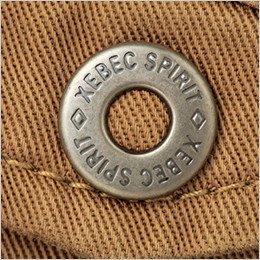 オリジナル金属ボタンステッチは太番手の糸