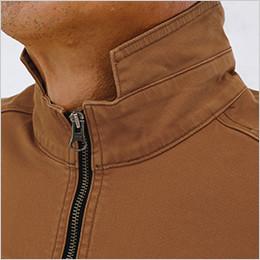 フルジップアップの衿ファスナー