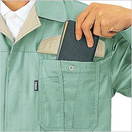 左胸フラップポケット付き