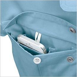 両胸ポケットは二重構造